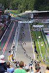 The peloton enter the famous Spa-Francorchamps Motor Circuit during Stage 3 of the 104th edition of the Tour de France 2017, running 212.5km from Verviers, Belgium to Longwy, France. 3rd July 2017.<br /> Picture: Eoin Clarke | Cyclefile<br /> <br /> All photos usage must carry mandatory copyright credit (&copy; Cyclefile | Eoin Clarke)