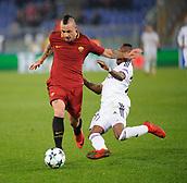 5th December 2017, Stadio Olimpic, Rome, Italy; UEFA Champions league football, AS Roma versus Qarabağ FK; Radja Nainggolan