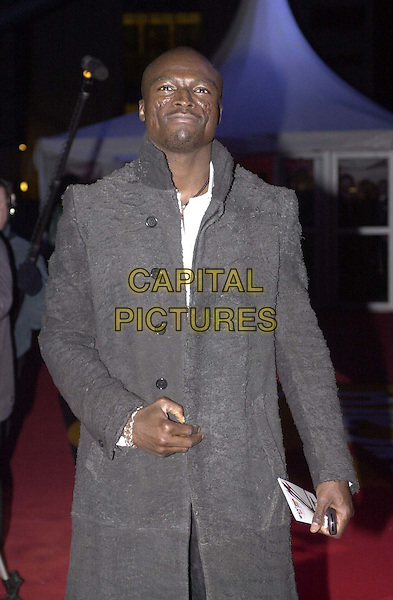 SEAL.Arrivals for the Brit Awards at Earls Court .bad complexion, skin, half length, half-length.*RAW SCAN - photo will be adjusted for publication*.www.capitalpictures.com.sales@capitalpictures.com.© Capital Pictures