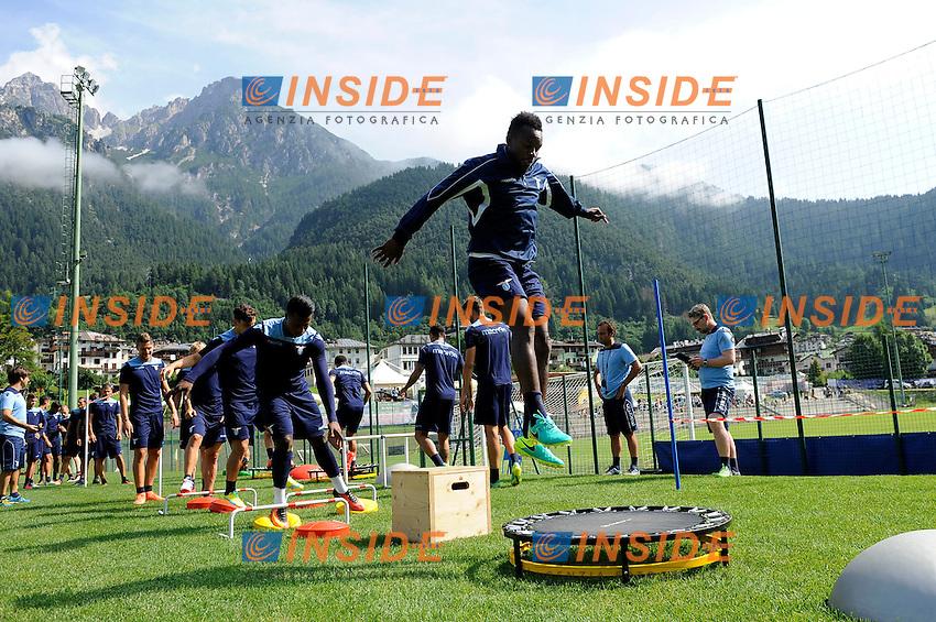 Eddy Onazi<br /> 22-07-2016 Auronzo di Cadore ( Belluno )<br /> Ritiro estivo S.S. Lazio ad Auronzo di Cadore in preparazione per la stagione 2016-2017<br /> SS Lazio pre season training camp <br /> @ Marco Rosi / Fotonotizia / Insidefoto