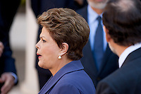 Dilma Rousseff after group family picture