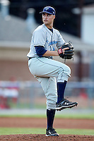 August 11, 2009:  Pitcher Jack McGeary of the Vermont Lake Monsters delivers a pitch during a game at Dwyer Stadium in Batavia, NY.  The Lake Monsters are the Short-Season Class-A affiliate of the Washington Nationals.  Photo By Mike Janes/Four Seam Images