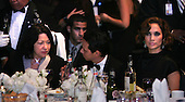 Washington, DC - September 16, 2009 -- United States Supreme Court Justice Sonia Sotomayer, Marc Anthony and his wife Jennifer Lopez watch President Barack Obama and First Lady Michelle Obama at the Congressional Hispanic Caucus Institute (CHCI) dinner in Washington DC on September 16, 2009. .Credit: Dennis Brack - Pool via CNP