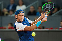 Lucas Pouille during the match of the Charity day previus at Madrid Open Tenis 2017in  Madrid, Spain. May 04, 2017. (ALTERPHOTOS/Rodrigo Jimenez) /NORTEPHOTO.COM
