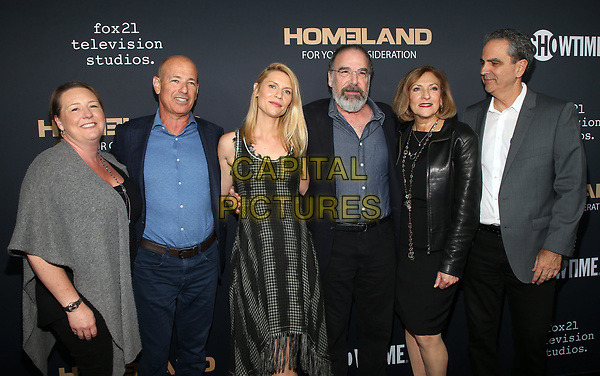 BEVERLY HILLS, CA - JUNE 5: Howard Gordon, Claire Danes, Mandy Patinkin, Lesli Linka Glatter, Executive directors<br /> ,  pictured at the Homeland FYC event at the Writers Guild Theater in Beverly Hills, California on June 5, 2018. <br /> CAP/MPI/FS<br /> &copy;FS/MPI/Capital Pictures