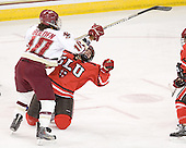 Blake Bolden (BC - 10), Kelly Sabatine (SLU - 16) - The Boston College Eagles defeated the visiting St. Lawrence University Saints 6-3 (EN) in their NCAA Quarterfinal match on Saturday, March 10, 2012, at Kelley Rink in Conte Forum in Chestnut Hill, Massachusetts.