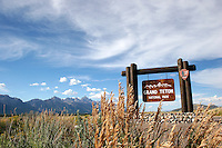 Grand Teton National Park sign
