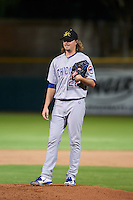 Mesa Solar Sox pitcher Pierce Johnson (22) during an Arizona Fall League game against the Scottsdale Scorpions on October 20, 2015 at Scottsdale Stadium in Scottsdale, Arizona.  Mesa defeated Scottsdale 5-4.  (Mike Janes/Four Seam Images)