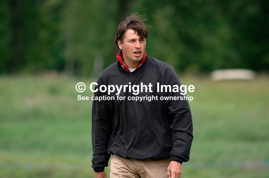 Robert-Jan Derksen, professional golfer, Holland. Picture taken during practice for the Smurfit European Golf Championship at the K Club, Co Kildare, Rep of Ireland. Ref: 200207025764...Copyright Image from Victor Patterson, 54 Dorchester Park, Belfast, UK, BT9 6RJ..Tel: +44 28 9066 1296.Mob: +44 7802 353836.Voicemail +44 20 8816 7153.Skype: victorpattersonbelfast.Email: victorpatterson@mac.com.Email: victorpatterson@ireland.com (back-up)..IMPORTANT: If you wish to use this image or any other of my images please go to www.victorpatterson.com and click on the Terms & Conditions. Then contact me by email or phone with the reference number(s) of the image(s) concerned.