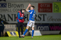 12th February 2020; McDairmid Park, Perth, Perth and Kinross, Scotland; Scottish Premiership Football, St Johnstone versus Motherwell; Jason Kerr of St Johnstone applauds the fans at the end of the match