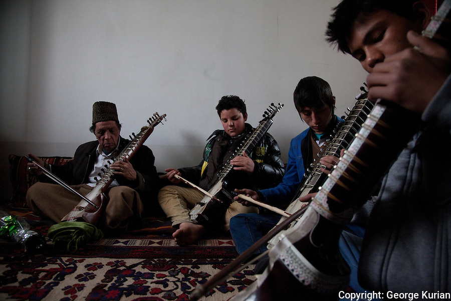 The learning of music and its performance has been under constant attack by the Taliban in Afghanistan. Many musicians fled Afghanistan to escape persecution or death rather than give up their musical traditions. Some of them are now back in Kabul, passing their skills on the next generation. <br />