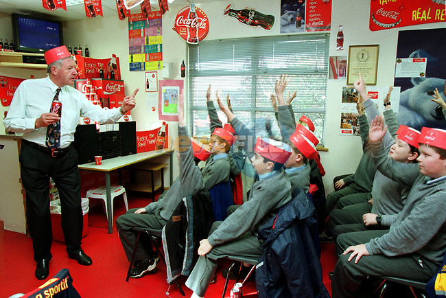 Pupils from Congress Avenue during thier visit to the Coke Bottlers Plant in Dublin..Picture: Paul Nicholls/Newsfile.