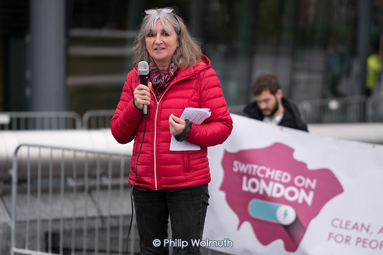 Sam Mason, PCS.  Londoners protest outside City Hall  to demand Sadiq Khan keeps his climate promises.