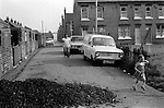 Free coal supply for mining families. South Kirkby Colliery, Yorkshire England. Coal Miners story 1979.Back to back NUM housing. Pit Club Terrace (left) and Milton Terrace to right and back. Milton Terrace is where Geoffrey Boycott the cricketer grew u.