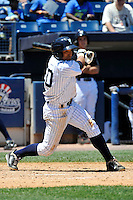 Staten Island Yankees third baseman Ali Castillo #60 during a game against the State College Spikes at Richmond County Bank Ballpark at St. George on July 14, 2011 in Staten Island, NY.  Staten Island defeated State College 6-4.  Tomasso DeRosa/Four Seam Images
