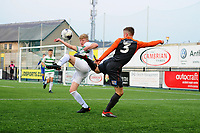 Pictured: Jacob Jones of Swansea City u19's in action during the FAW youth cup final between Swansea City and The New Saints at Park Avenue in Aberystwyth Town, Wales, UK.<br /> Wednesday 17 April 2019