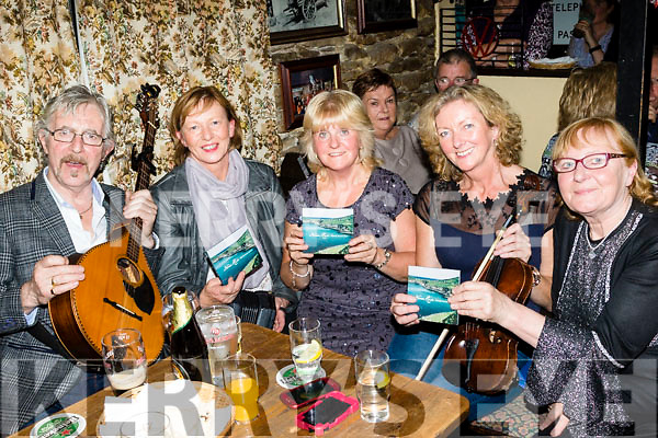Music to my Ear<br /> ---------------------<br /> Nora Rice, Camp, seated centre, launched her 1st CD last Saturday night in a stuffed Railway Bar Camp, L-R Batt O'Connor, Bernadette Slattery, Nora Rice, Kate Mulcahy and Bridget O' Connor.