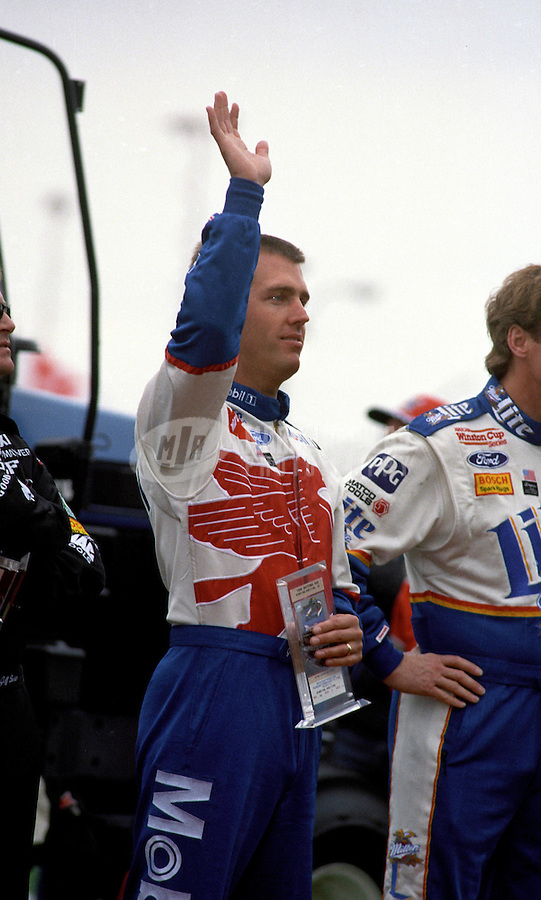 Feb. 15, 1998; Daytona Beach, FL, USA; NASCAR Winston Cup Series driver Jeremy Mayfield during the Daytona 500 at the Daytona International Speedway. Mandatory Credit: Mark J. Rebilas-