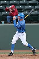 Chris Keck #1 of the UCLA Bruins bats against the Washington State Cougars at Jackie Robinson Stadium on March 24, 2012 in Los Angeles,California. UCLA defeated Washington 12-3.(Larry Goren/Four Seam Images)