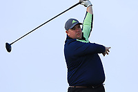Shane Hogan (Nenagh) on the 1st tee during Round 3 of The West of Ireland Open Championship in Co. Sligo Golf Club, Rosses Point, Sligo on Saturday 6th April 2019.<br /> Picture:  Thos Caffrey / www.golffile.ie