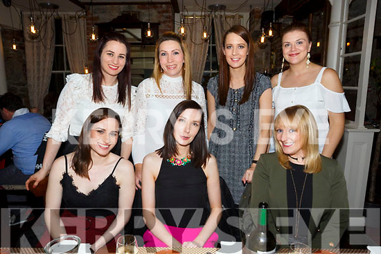 Causeway school reunion at Croi the Square on SaturdayFront l-r Diane O'Grady, Nuala McCarthy, Lisa Dennehy Back l-r Liz O Driscoll, Patricia O Neill, Marl Ryall and Tessa Lawlor