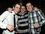 Adam Garbutt celebrating his 18th birthday in Sarsfields with friends Adam Nesbitt and Cian Brady. Photo:Colin Bell/pressphotos.ie