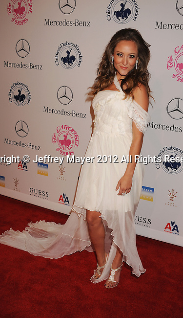 BEVERLY HILLS, CA - OCTOBER 20: Lauren C. Mayhew  arrives at the 26th Anniversary Carousel Of Hope Ball presented by Mercedes-Benz at The Beverly Hilton Hotel on October 20, 2012 in Beverly Hills, California.