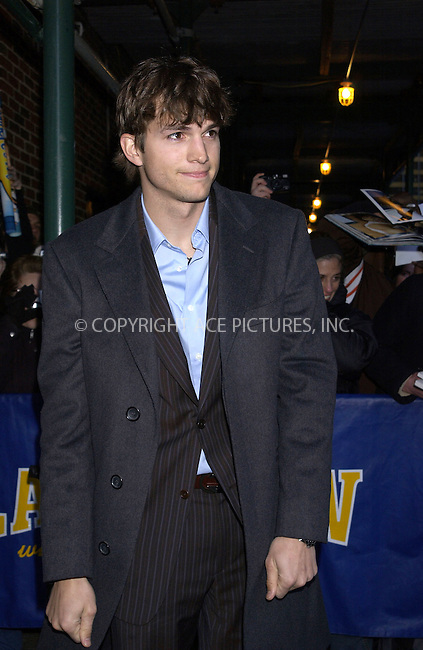 WWW.ACEPIXS.COM . . . . . ....NEW YORK, MARCH 14, 2005....Ashton Kutcher arrives for an appearance on the Late Show with David Letterman.....Please byline: KRISTIN CALLAHAN - ACE PICTURES.. . . . . . ..Ace Pictures, Inc:  ..Philip Vaughan (646) 769-0430..e-mail: info@acepixs.com..web: http://www.acepixs.com
