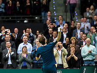Rotterdam, The Netherlands. 13.02.2014. Andy Murray(GRB) defeats Dominic Thiem(OOS) at the ABN AMRO World tennis Tournament<br /> Photo:Tennisimages/Henk Koster