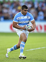 Nahuel Tetaz Chaparro of Argentina in possession. Rugby World Cup Pool C match between Argentina and Georgia on September 25, 2015 at Kingsholm Stadium in Gloucester, England. Photo by: Patrick Khachfe / Onside Images