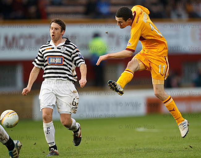 Jamie Murphy blast in goal no 2 for Motherwell