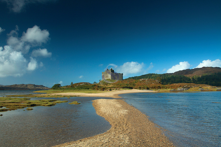Castle Tioram and Loch Moidart, Doirlinn, Moidart, Lochaber