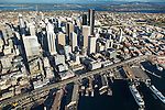 Aerial view of Seattle skyline and waterfront