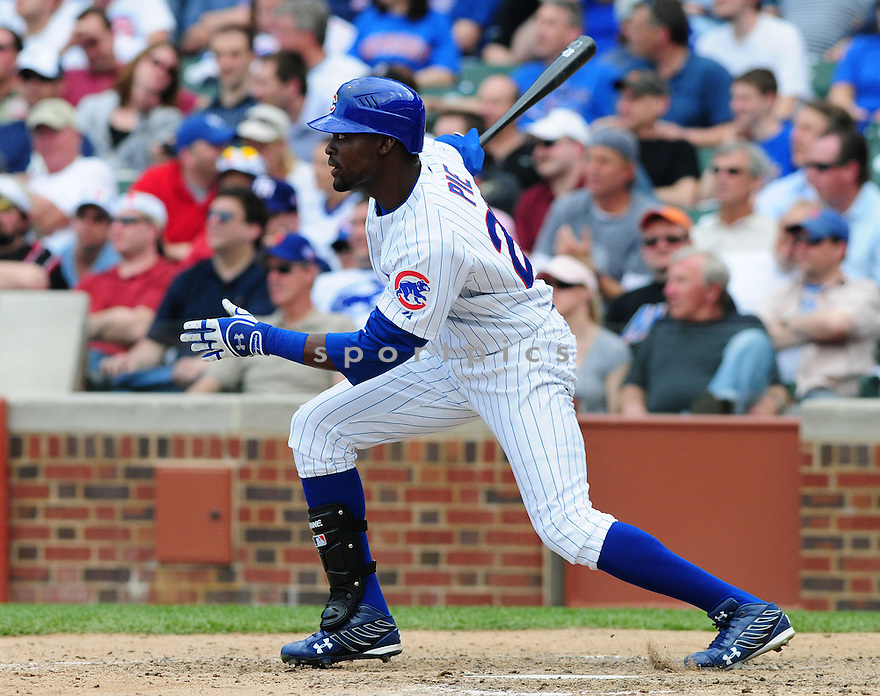 FELIX PIE, of the Chicago Cubs , in action against the NewYork Mets during the Cubs  game in Chicago, IL on April 22, 2008. The Cubs  won the game 8-1.