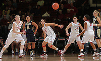 STANFORD, CA - November 30, 2011:  The defense forces a steal during Stanford's 93-44 victory over UC Davis in Stanford, California on November 30, 2011.