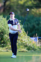 Conor Purcell  (GB&I) on the 6th tee during the final day foursomes matches at the Walker Cup, Royal Liverpool Golf Club, Hoylake, Cheshire, England. 08/09/2019.<br /> Picture Fran Caffrey / Golffile.ie<br /> <br /> All photo usage must carry mandatory copyright credit (© Golffile | Fran Caffrey)