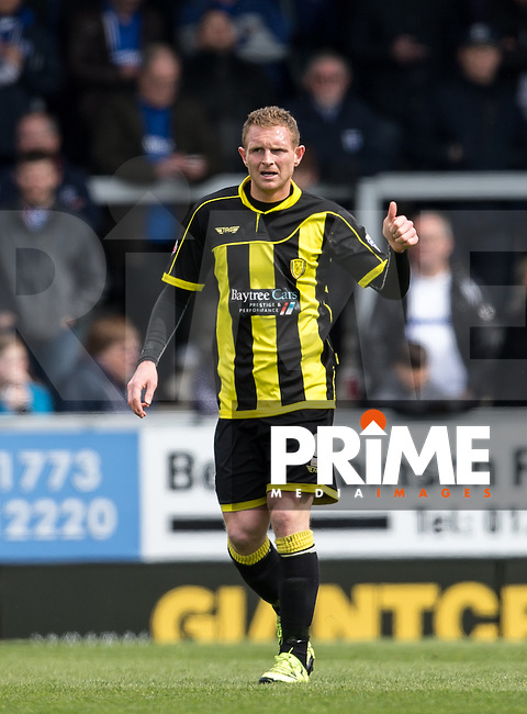Stuart Beavon of Burton Albion gives a thumb up during the Sky Bet League 1 match between Burton Albion and Gillingham at the Pirelli Stadium, Burton upon Trent, England on 30 April 2016. Photo by Andy Rowland.
