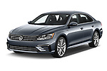 2017 Volkswagen Passat R-Line 4 Door Sedan Angular Front stock photos of front three quarter view