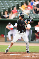 Kane County Cougars outfielder Jacob Hannemann (4) at bat during a game against the Peoria Chiefs on June 2, 2014 at Dozer Park in Peoria, Illinois.  Peoria defeated Kane County 5-3.  (Mike Janes/Four Seam Images)