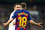 FC Barcelona's defense Jordi Alba reacts during La Liga match. Mar 01, 2020. (ALTERPHOTOS/Manu R.B.)