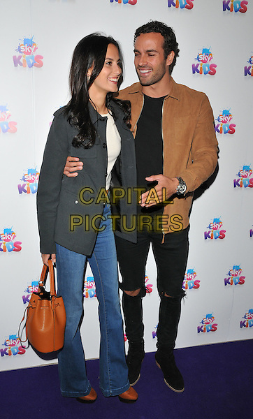 Lucy Watson &amp; James Dunmore at the Sky Kids Cafe VIP launch party, The Vinyl Factory, Marshall Street, London, England, UK, on Sunday 29 May 2016.<br /> CAP/CAN<br /> &copy;CAN/Capital Pictures
