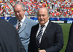 22 July 2007: FIFA President Joseph (Sepp) Blatter (r) with Asociacion del Futbol Argentino President Julio Grondona. At the National Soccer Stadium, also known as BMO Field, in Toronto, Ontario, Canada. Argentina's Under-20 Men's National Team defeated the Czech Republic's Under-20 Men's National Team 2-1 in the championship match of the FIFA U-20 World Cup Canada 2007 tournament.