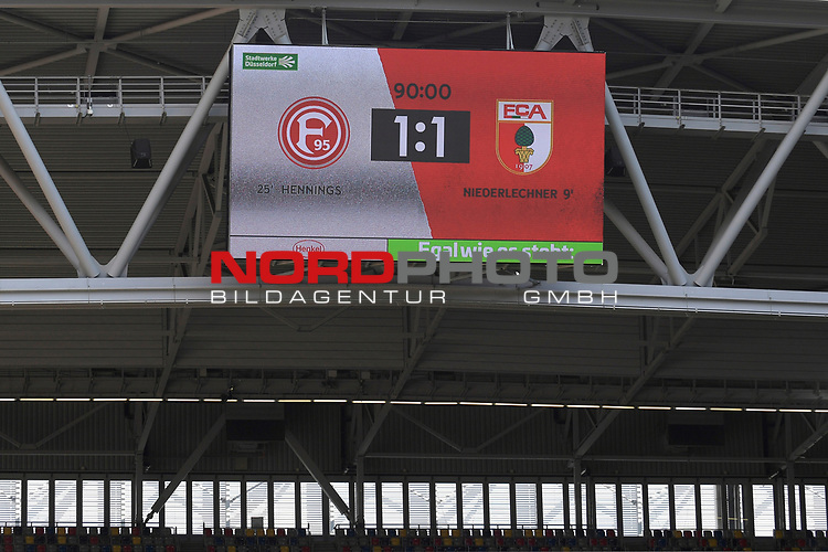 1-1 Endstand-Klassenerhalt fuer den FC Augsburg-die Fortuna muss bangen.<br />