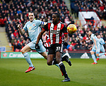Clayton Donaldson of Sheffield Utd  in action during the Championship match at Bramall Lane Stadium, Sheffield. Picture date 26th December 2017. Picture credit should read: Simon Bellis/Sportimage