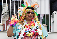 Indian fan dressed up for the day during India vs New Zealand, ICC World Cup Semi-Final Cricket at Old Trafford on 9th July 2019