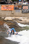 Reigning women's world freestyle champion, and winner of the Reno Riverfestival 2014 freestyle kayaking competition, from Great Britan, Clare O'Hara