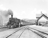 #476 with San Juan at Durango depot.  Probably early 1930's.<br /> D&amp;RGW  Durango, CO  1930-1933