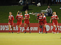 Boyds, MD - Saturday May 6, 2017: Francisca Ordega goal celebration during a regular season National Women's Soccer League (NWSL) match between the Washington Spirit and Sky Blue FC at Maureen Hendricks Field, Maryland SoccerPlex.