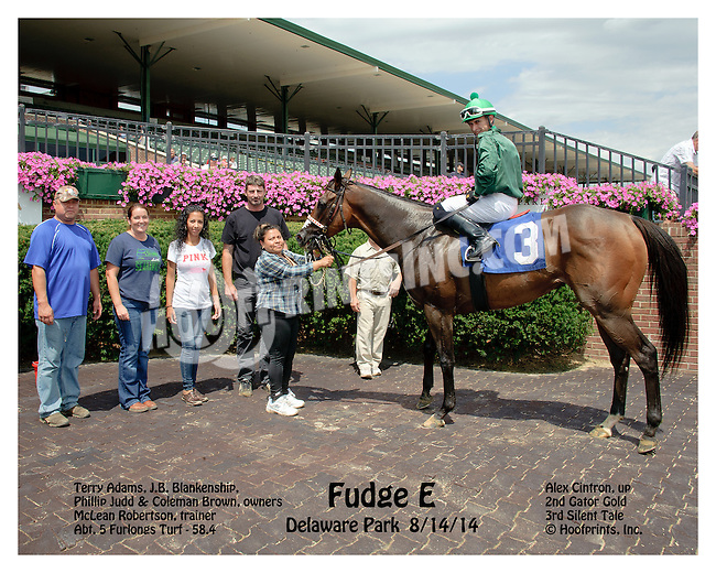 Fudge E winning at Delaware Park on 8/14/14
