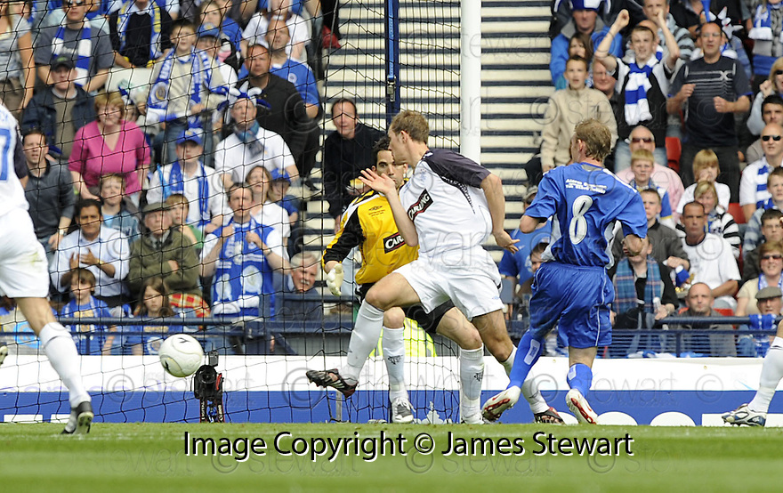 24/05/2008   Copyright Pic: James Stewart.File Name : sct_jspa23_qots_v_rangers.STEVE TOSH SCORES QUEEN'S FIRST.James Stewart Photo Agency 19 Carronlea Drive, Falkirk. FK2 8DN      Vat Reg No. 607 6932 25.Studio      : +44 (0)1324 611191 .Mobile      : +44 (0)7721 416997.E-mail  :  jim@jspa.co.uk.If you require further information then contact Jim Stewart on any of the numbers above........